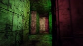 inscrutable : 4K Mysterious Fantasy Enigmatic Maze Labyrinth 3D Animation 4 Stock Footage