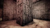 inscrutable : 4K Mysterious Fantasy Enigmatic Maze Labyrinth Vintage 3D Animation 1