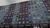 socialismo : Eastern European Panel Plattenbau Block Building Establishing Shot 3D Animation