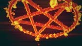 pentagramm : 4K Pentagramm auf Feuer Magic Symbol 3D Animation 4