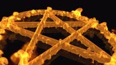 pentagramm : 4K Pentagramm auf Feuer Magic Symbol 3D Animation 7