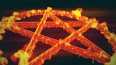 koning : 4K Pentagram op Fire Magic Symbol 3D-animatie 8