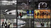 juridisch : 4K Airport Inner Zone Bewakingscamera Stockvideo