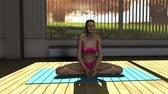 Meditation v3 Yoga Pose in Yoga studio 3D Animation 1