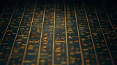 mysterious : 4K Golden Egyptian Hieroglyphs Ancient Wall v4 5 Stock Footage
