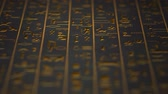 stone wall : 4K Golden Egyptian Mystic Hieroglyphs Riddle Ancient Wall v5 1