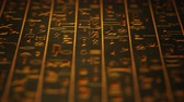 stone wall : 4K Golden Egyptian Mystic Hieroglyphs Riddle Ancient Wall v5 2