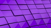 geometrical shapes : Minimalist Reflective Purple Cubic Blocky Wall 3D Background Animation