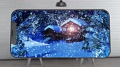 электроника : 4K Watching Snowy Christmas Scene on Phone 2