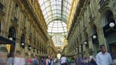 milano : MILAN,ITALY,Unique view of Galleria Vittorio Emanuele II