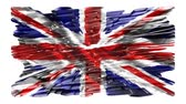política : United Kingdom flag,animation