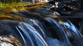 rift : Brook water stream with small rift in day time, selective focus, angle take Stock Footage