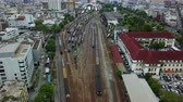 gare : 4K Aerial view of Bangkok railway station