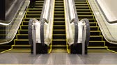 staircase : Moving escalator up and down with people Stock Footage