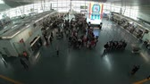 licznik : Phuket, Thailand - March 29, 2018 : Crowd of tourist at airport check in counter hall