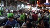 китайский квартал : Bangkok, Thailand - May 3, 2018 : View of China town in Bangkok. People dining in the area.