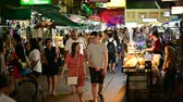 kaosan : Bangkok, Thailand - June 9, 2019 : Tourists visited at Khao San Road night market