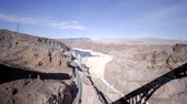 híd : view of the hoover dam near las vegas colorado river hydro concrete desert