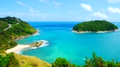 4K video clips,  The most beautiful sea view point In Phuket, Thailand, Land.
