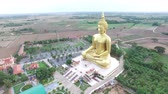 Big golden buddha statue in the temple of ThailandWat Maung ,Angthong Province, Thailand