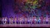 t��o : DNIPRO, UKRAINE - JUNE 17, 2017: Unidentified Children, ages 9-12 years old, perform This eternal ballet tale at State Opera and Ballet Theater.