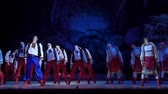 balet : DNiPRO, UKRAINE - JANUARY 7, 2018: Night before Christmas ballet performed by Dnepropetrovsk Opera and Ballet Theater ballet.