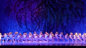 csillog : DNIPRO, UKRAINE - JANUARY 8, 2018: Unidentified girls, ages 7-12 years old, perform Ballet pearls show at State Opera and Ballet Theater. Stock mozgókép