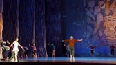 children ballet : DNIPRO, UKRAINE - JANUARY 8, 2018: Unidentified Children, ages 8-12 years old, perform The Luxembourg Garden at State Opera and Ballet Theater.