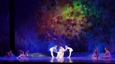 children ballet : DNIPRO, UKRAINE - JANUARY 8, 2018: Unidentified girls, ages 10-16 years old, perform The whole world at State Opera and Ballet Theater.