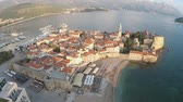 aerial : Montenegro, Budva, old town Stock Footage