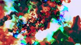 abstract : Varicolored streams of particles forming patterns, 3D animation, looping