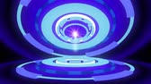 physics : Sci-fi gizmo with glowing rings 4K Stock Footage