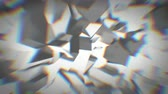 aberração : Animated gray crystals with chromatic aberration 4K