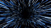 asmak : Flying trought hyperspace, abstract animation in blue colors, seamless loop.