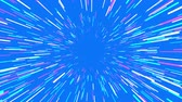 asmak : Flying trought hyperspace, abstract animation on blue, seamless loop. Stok Video