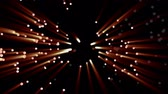 borrifar : Little lights flutter in the darkness. 3D animation of particles, seamless loop. Vídeos