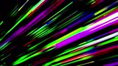 irradiar : Abstract trails of lights moving on black background. Colorful 3D animation, seamless loop.