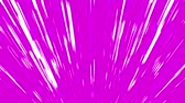 cursos : Abstract white fan-shaped beams on pink background. 3D animation, seamless loop.