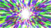 course pied : Abstract multicolored hyperspace tunnel on white background. 3D animation, seamless loop.