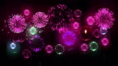 consecutivo : 4K - fireworks. Holiday celebration, big fireworks at holiday night. Version 17. Stock Footage