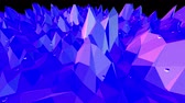 wispy : Blue low poly changing surface as landscape. Blue polygonal geometric changing environment or pulsating background in cartoon low poly popular modern stylish 3D design.