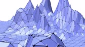 легко : Blue low poly shifting surface as futuristic landscape. Blue polygonal geometric shifting environment or pulsating background in cartoon low poly popular modern stylish 3D design..