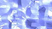 emaranhado : Blue low poly shifting surface as cartoon backdrop. Blue polygonal geometric shifting environment or pulsating background in cartoon low poly popular modern stylish 3D design..