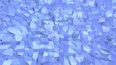 origami background : Blue metalic low poly waving surface as space background. Blue polygonal geometric vibrating environment or pulsating background in cartoon low poly popular modern stylish 3D design..