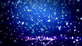 csillog : decorative 3d snowflakes flying in air on a blue background. Use as animated Christmas, New Year card or winter theme or background with shining snowflakes, lens flare, bokeh. Snowflake Stock mozgókép
