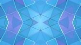 transformando : Abstract simple 3D background in blue purple gradient color, low poly style as modern geometric background or mathematical environment with kaleidoscopic effect. 4K UHD or FullHD seamless loop.