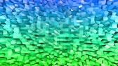 oscillation : Abstract low poly style looped background. 3d seamless animation in 4k. Modern gradient colors. Low poly blue green surface v1 Stock Footage