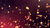 bg : 3d render of luminous particles as science fiction background or modern abstract background of particles with depth of field and bokeh like vj loop. Particles form chaotic structure. 2 Stock Footage