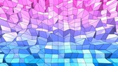 fácil : 4k clean low poly animated background in loop. Seamless 3d animation in modern geometric style with modern gradient colors. Creative simple background. Red blue gradient colors 7