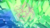 úhlová : 4k clean low poly animated background in loop. Seamless 3d animation in modern geometric style with modern gradient colors. Creative simple background. Blue green gradient colors, terrain 8